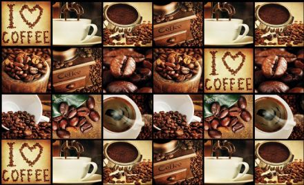 Easy install - wallpaper mural Coffee Cup Beans Brown 3459